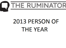 Ruminator's 2013 Person of the Year