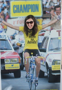 You may not have realised this, but Kim won the Tour de France AND battled testicular cancer