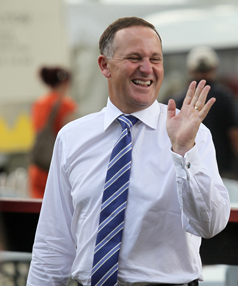 Unfortunately this is John Key's High-Five face