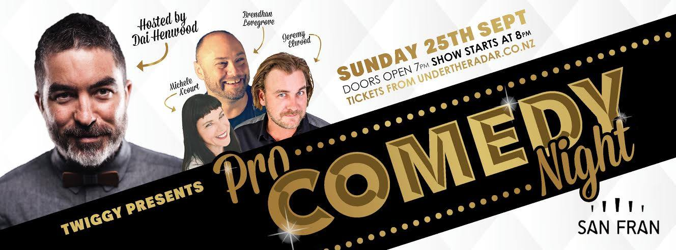 Pro comedy in Wellington!